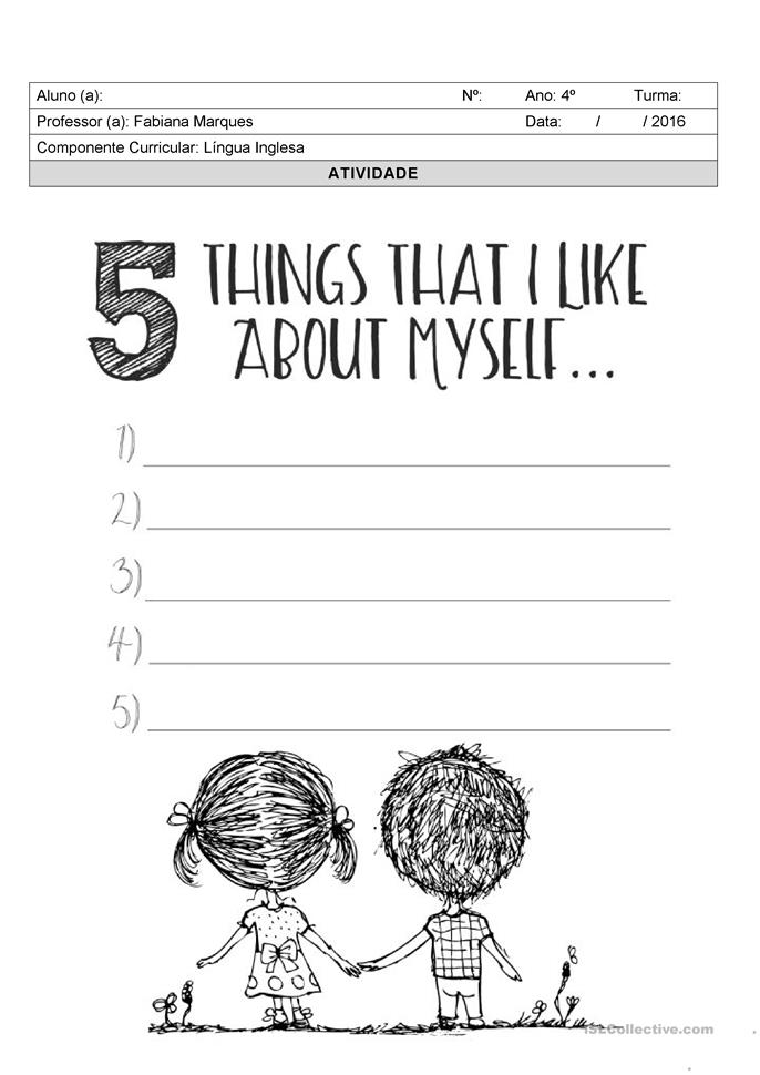 5 things I like about myself - Apostilas